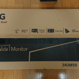 【ウルトラワイド34UM59-P】34インチ(21:9、2560×1080)LGのモニターを購入レビュー。